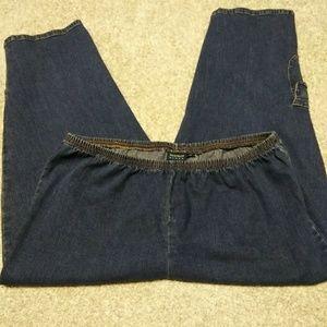 Avenue Blues, 18, crop, denim, pull on jeans.